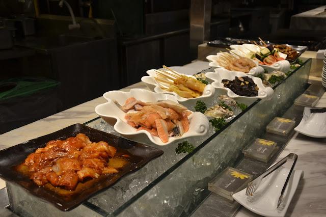 fresh fish, fresh chicken, grill