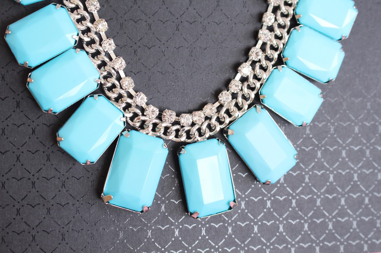 Jane Norman Gem And Diamante Necklace