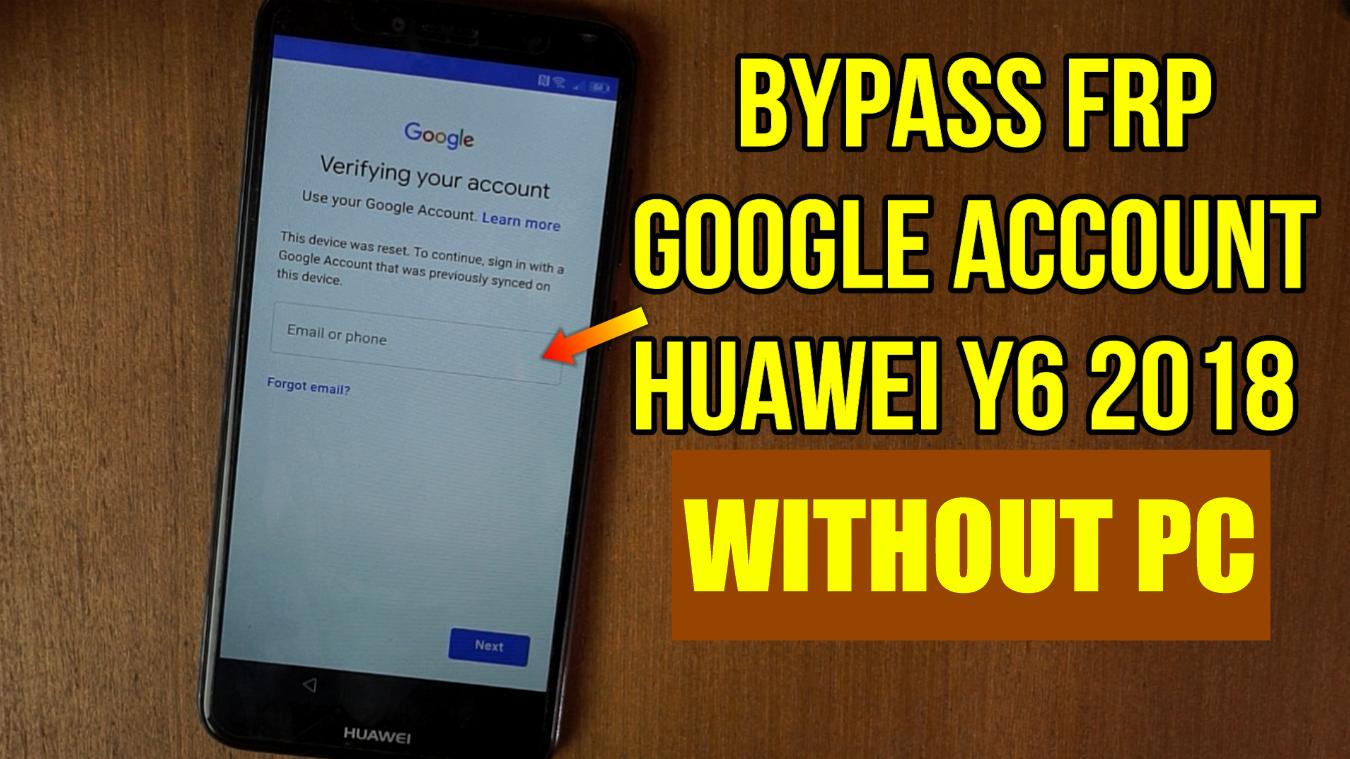 Huawei Y6 2018 ATU-L11 bypass frp goole account verification