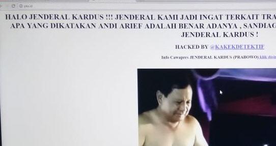 Website Resmi PKS.ID Dihack, Muncul Gambar Prabowo Jenderal Kardus