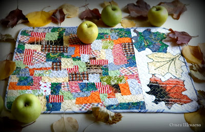 ланчмат, столовая, салфетка, осенняя, листья, кухня, стол,