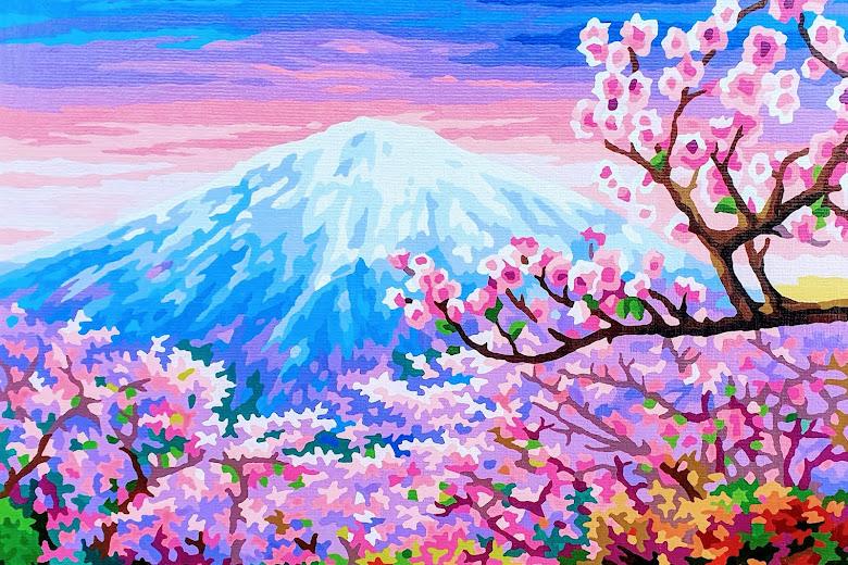 完成的作品 - 日本櫻花