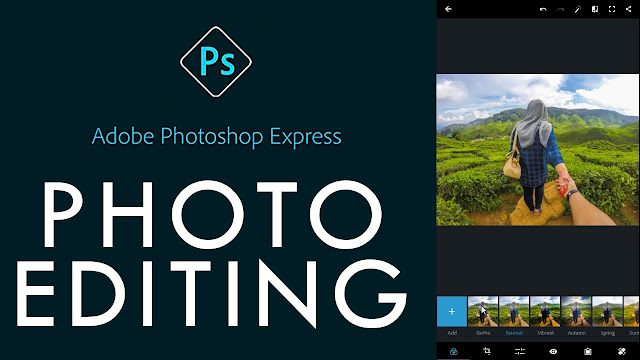 Adobe Photosop express - Aplikasi edit foto terbaik di HP Android