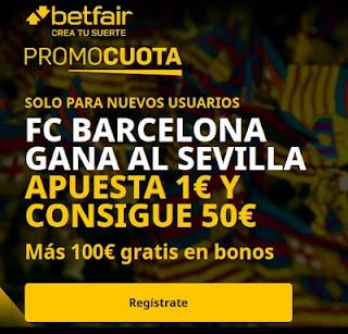 betfair promocuota Copa Barcelona vs Sevilla 3-3-2021