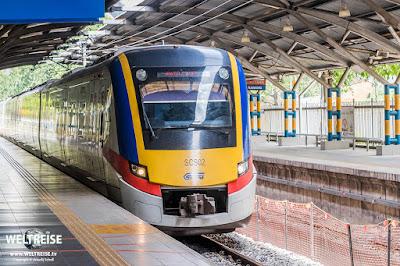 Metro nach Batu Caves. www.WELTREISE.tv