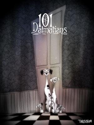 Green Pear Diaries, arte, dibujo, ilustración, Andrew Tarusov, What if Tim Burton directed all Disney classic movies?