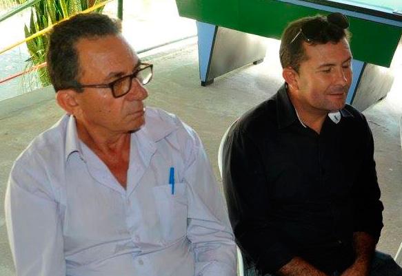 Prefeito Djama Alves na reunião sobre a conclusão da Adutora – Foto Marcelo Patriota
