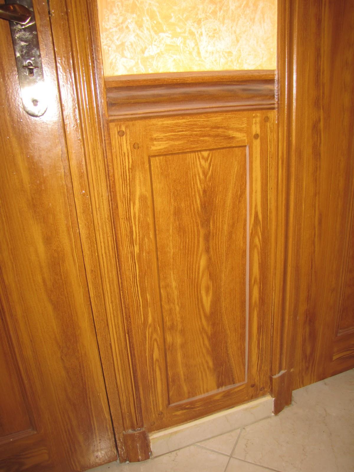 peinture d corative artisanale didier roussel imitation bois panneau moulure en trompe l 39 oeil. Black Bedroom Furniture Sets. Home Design Ideas