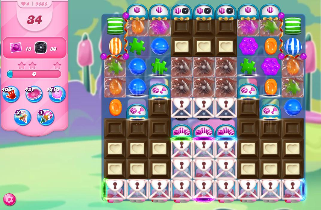 Candy Crush Saga level 9606