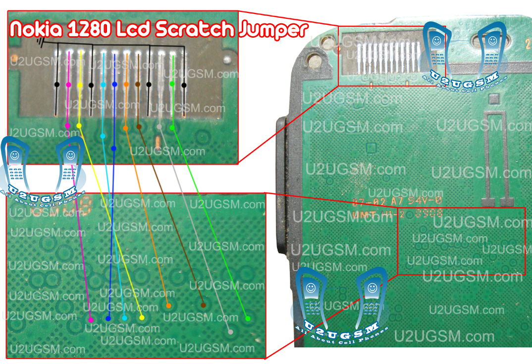 Nokia 1280 Lcd Display Scratch Jumpers