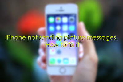 iPhone not sending picture messages. How to fix it