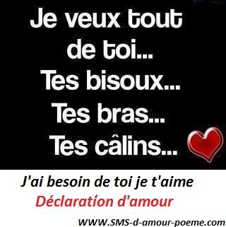 Déclaration Damour Jai Besoin De Toi Je Taime Mot Damour