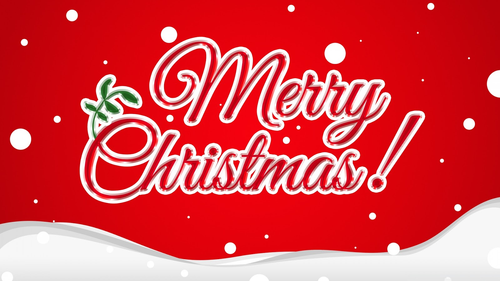 Banner card of Merry Christmas greeting sign with fancy text