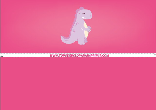 faixa lateral dinossauro rosa