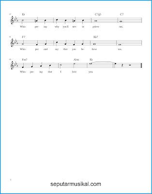 Whispering 2 chords jazz standar