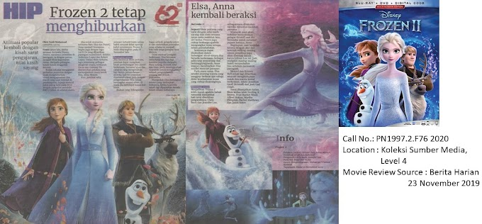 Movie Review on 'Frozen 2'