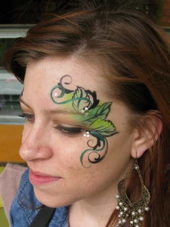 Green Fairy Face Paint