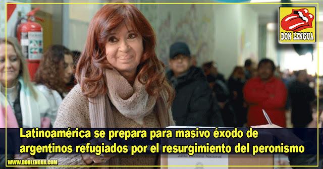 Latinoamérica se prepara para masivo éxodo de argentinos refugiados por el resurgimiento del peronismo