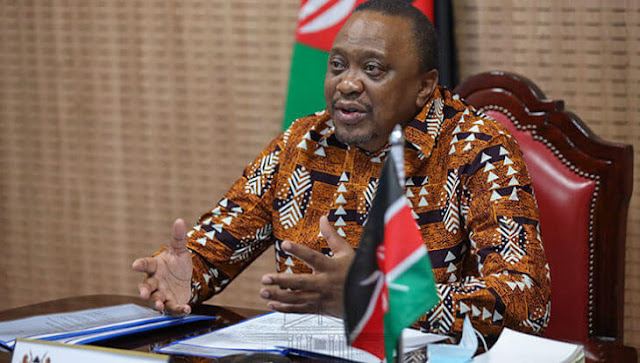 President Uhuru Kenyatta on virtual meeting at Statehouse