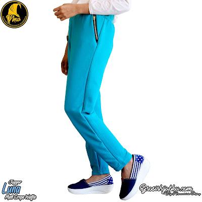 Celana jogger terbaru bahan bubble crepe polos tetap termurah