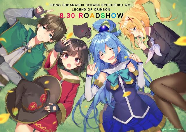 Ilustrador de Konosuba! celebra el lanzamiento de la película