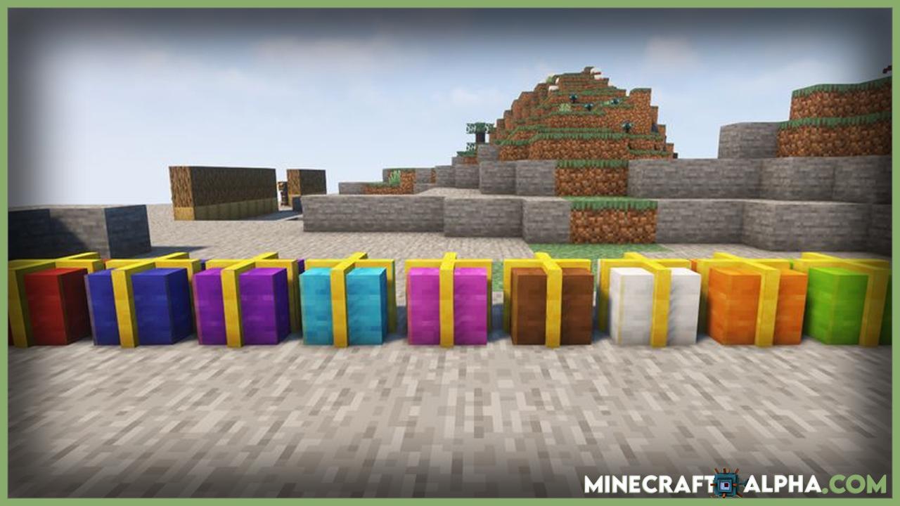 Minecraft Gift Wrap Mod 1.17.1/1.16.5 (Present)