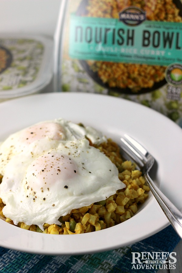 Easy Curry Cauliflower Rice Bowl with Egg | Renee's Kitchen Adventures