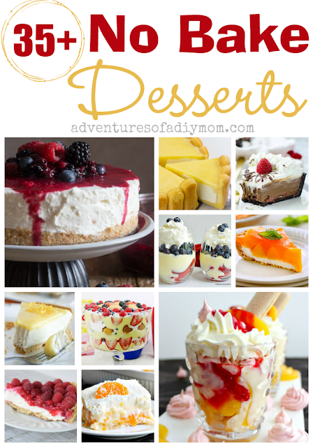 35+ no bake dessert recipes collage