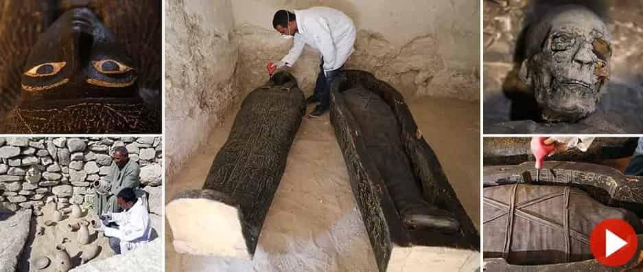 Άνοιξαν Σαρκοφάγο με Καλοδιατηρημένη Μούμια Γυναίκας 3.000 ετών που Παρέμενε Σφραγισμένη