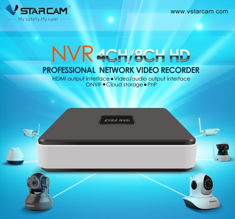 VSTARCAM N400 Eye4 NVR 4CH Network Video Recorder CCTV IP