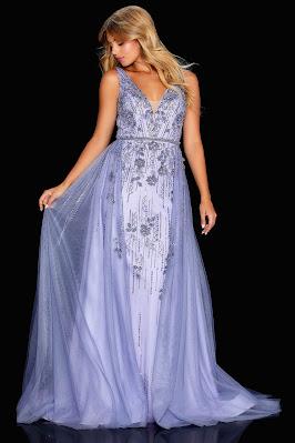 amarra v-plugging prom lavender color dress