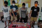 Gerebek Pesta Sabu di Maluk, Polisi Amankan 4 Pria Pemilik Sabu