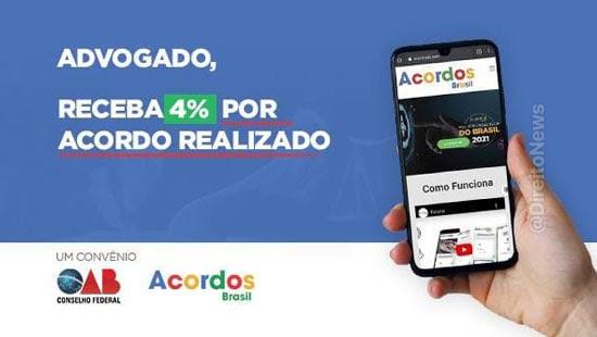 advogados receberao acordo convenio acordos brasil