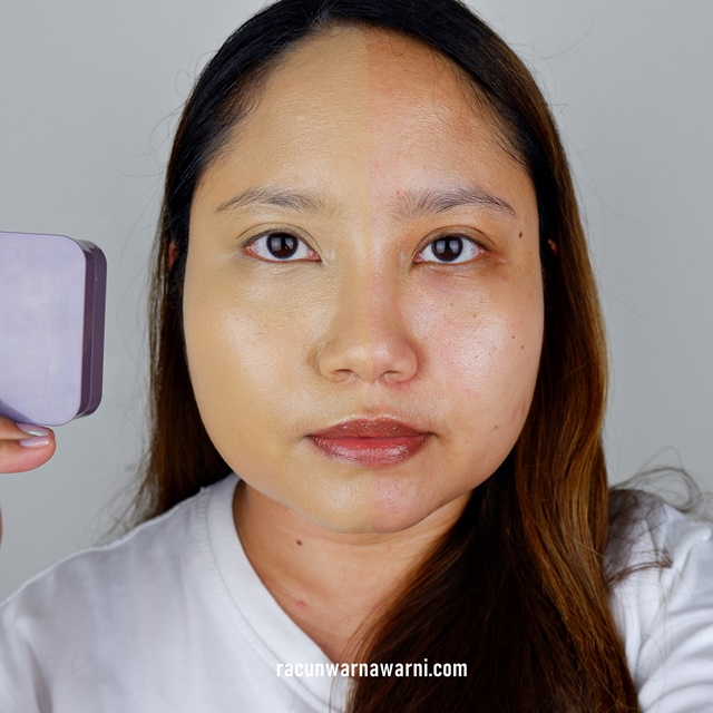 Face Swatch Somethinc Copy Paste Breathable Mesh Cushion shade Coco