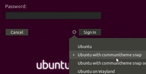 ubuntu with communitheme snap