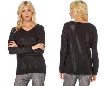camiseta mujer de color negro de la marca So Soon