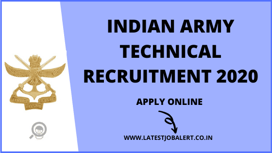 Indian Army SSC Technical Recruitment 2020 online form|Apply online