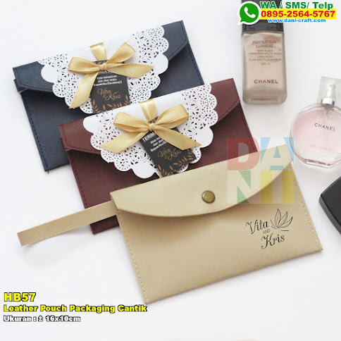 Leather Pouch Packaging Cantik