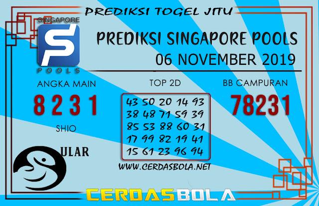 """Prediksi Togel """"SINGAPORE"""" CERDASBOLA 06 NOVEMBER 2019"""