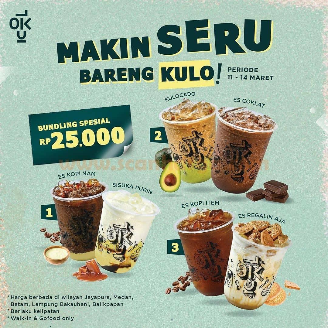 KEDAI KOPI KULO PROMO Makin Seru Bareng Kulo! Bundling Spesial Rp 25.000