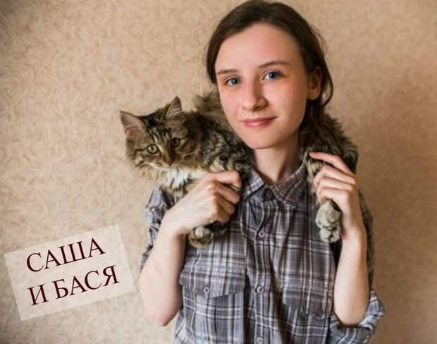 Бася – кошка из шахты. 10 дней школьница Саша кормила её с верёвочки и стакана, пока не спасла!
