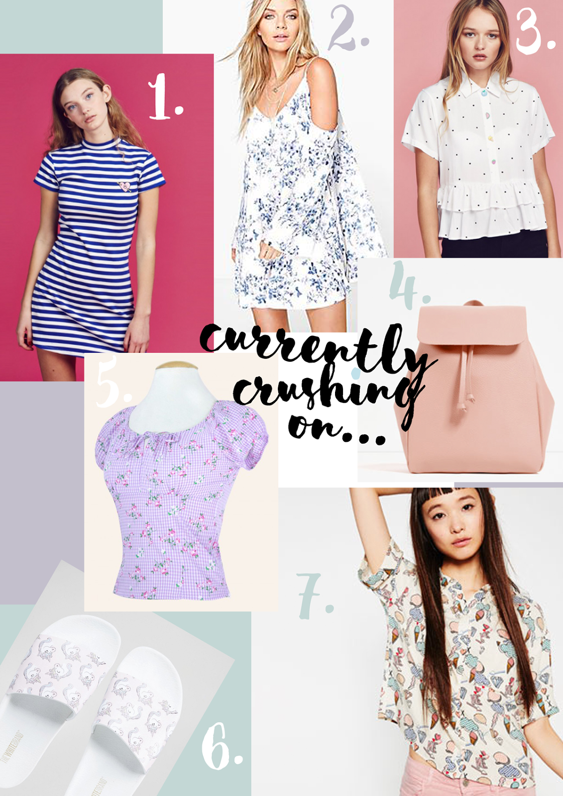 A picture of a spring/summer fashion wishlist