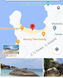 Peta Lokasi pantai Tanjung tinggi