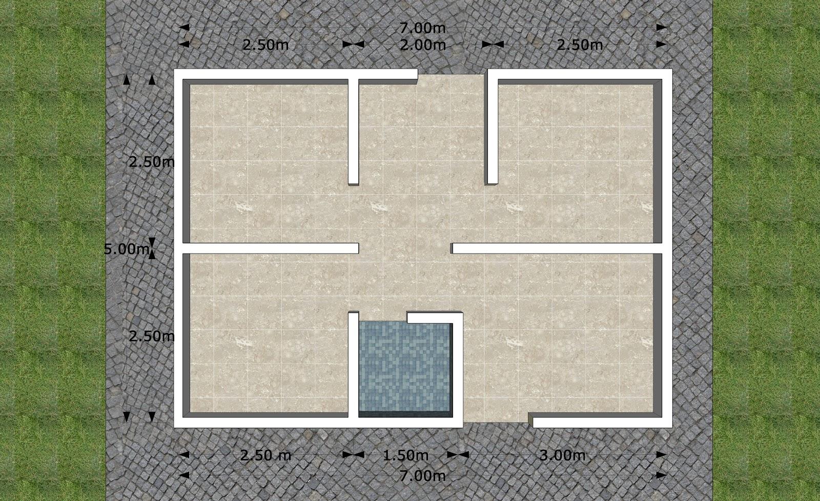 Desain Rumah Mungil 7x5 M Jasa Desain Gambar Rumah Minimalis Online Murah Harga Terjangkau