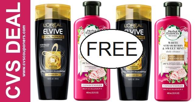 FREE L'Oreal Shampoo CVS Deal 9-6-9-12
