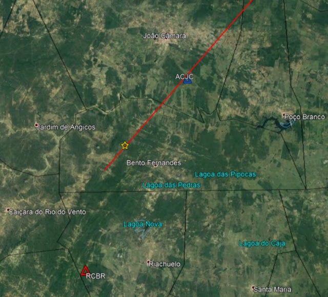 tremor de terra na região de Bento Fernandes, RN atinge João Câmara blog do Jasão