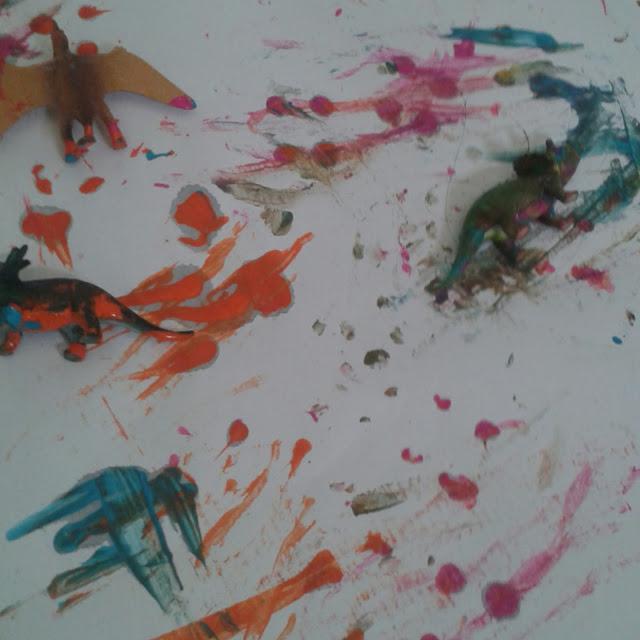 Dinosaur Stomp painting