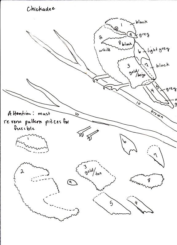 Through My Window: Chickadee Pattern