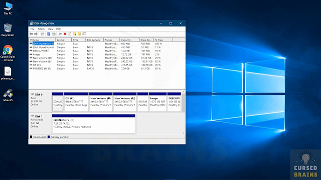 How To Install Prime OS open disk management