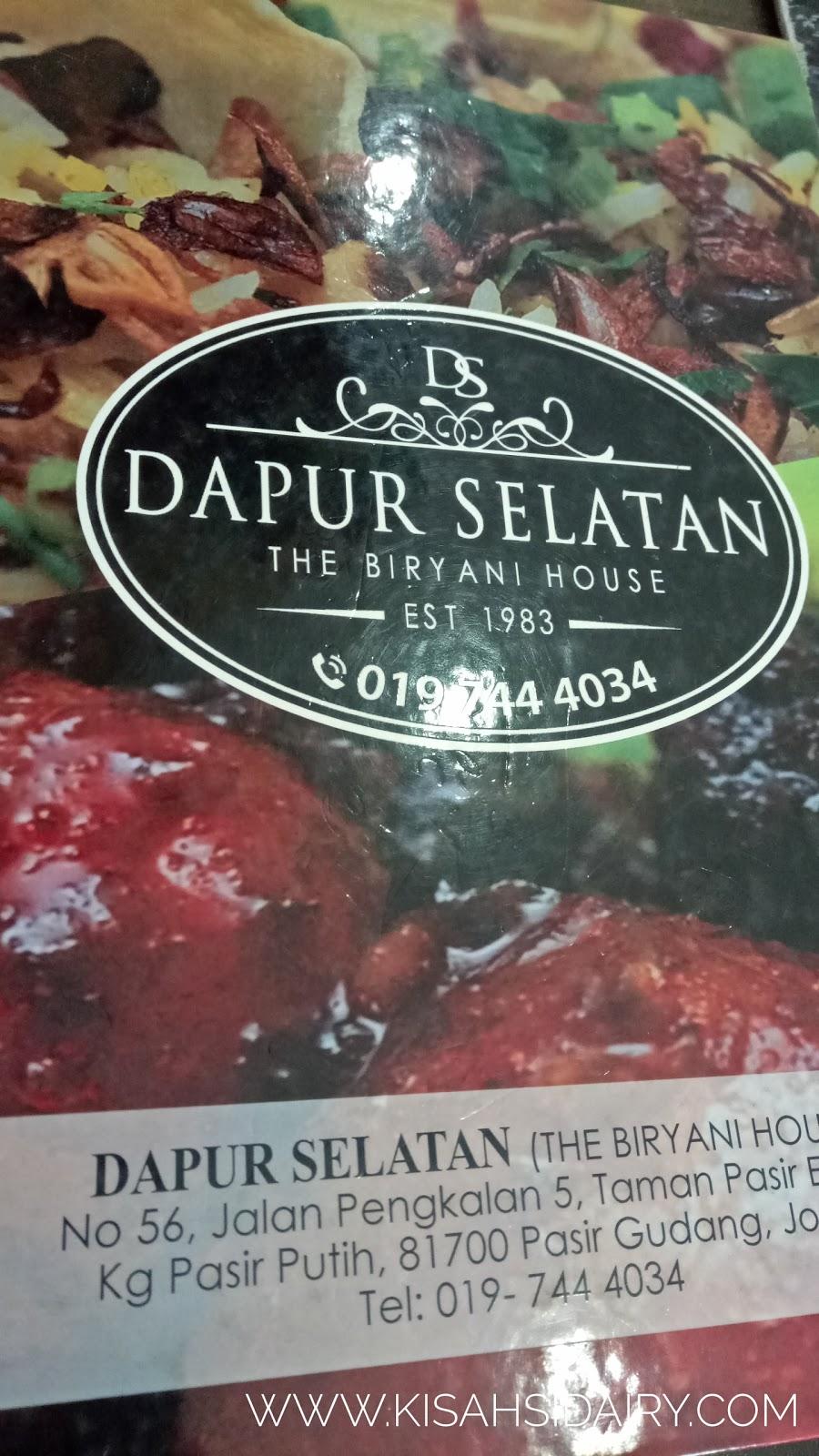 Lunch Di Dapur Selatan The Beryani House Pasir Gudang Kisahsidairy